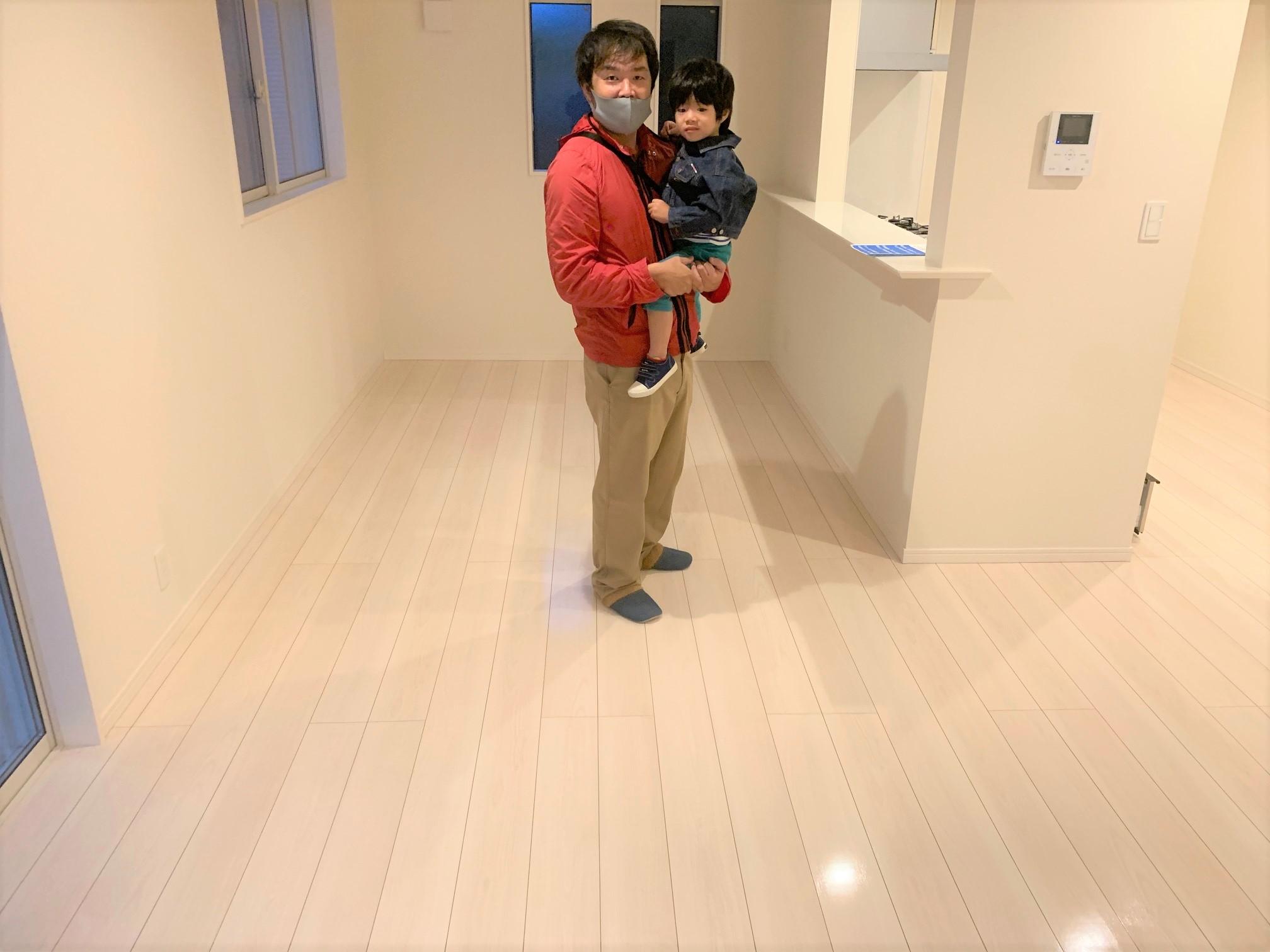 東京都北区 SIAA抗菌フロアコーティング